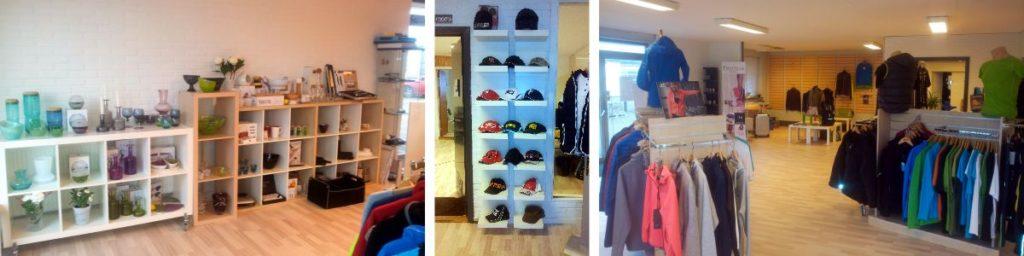 Showroom hos Seritex. Firmagaver, Profiltøj, tryk og broderi.